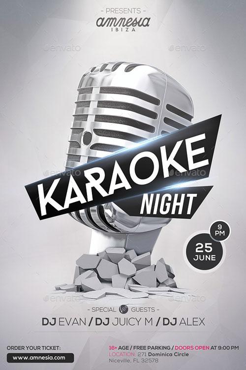 Karaoke Night Flyer Template for your next Karaoke Event!