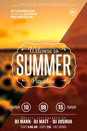 Download the best Summer Flyer Templates for Photoshop