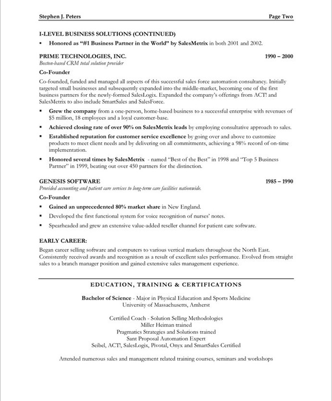 Sample Sales - Executive Resumes l Free Executive Resume Samples l - Sales Executive Resume Template