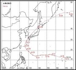 q6 【緊急】2013台風24号りんご台風再来?米軍予想熱帯低気圧