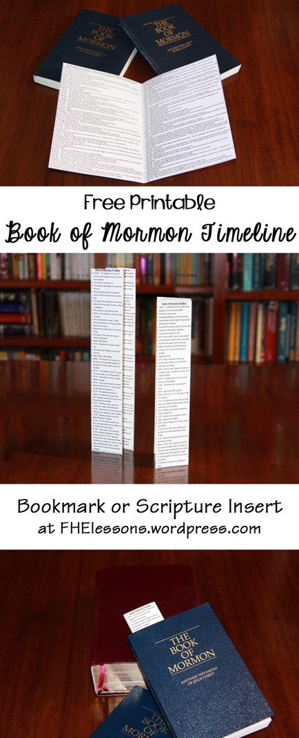 Printable Book of Mormon Timeline! Family Home Evening Lessons