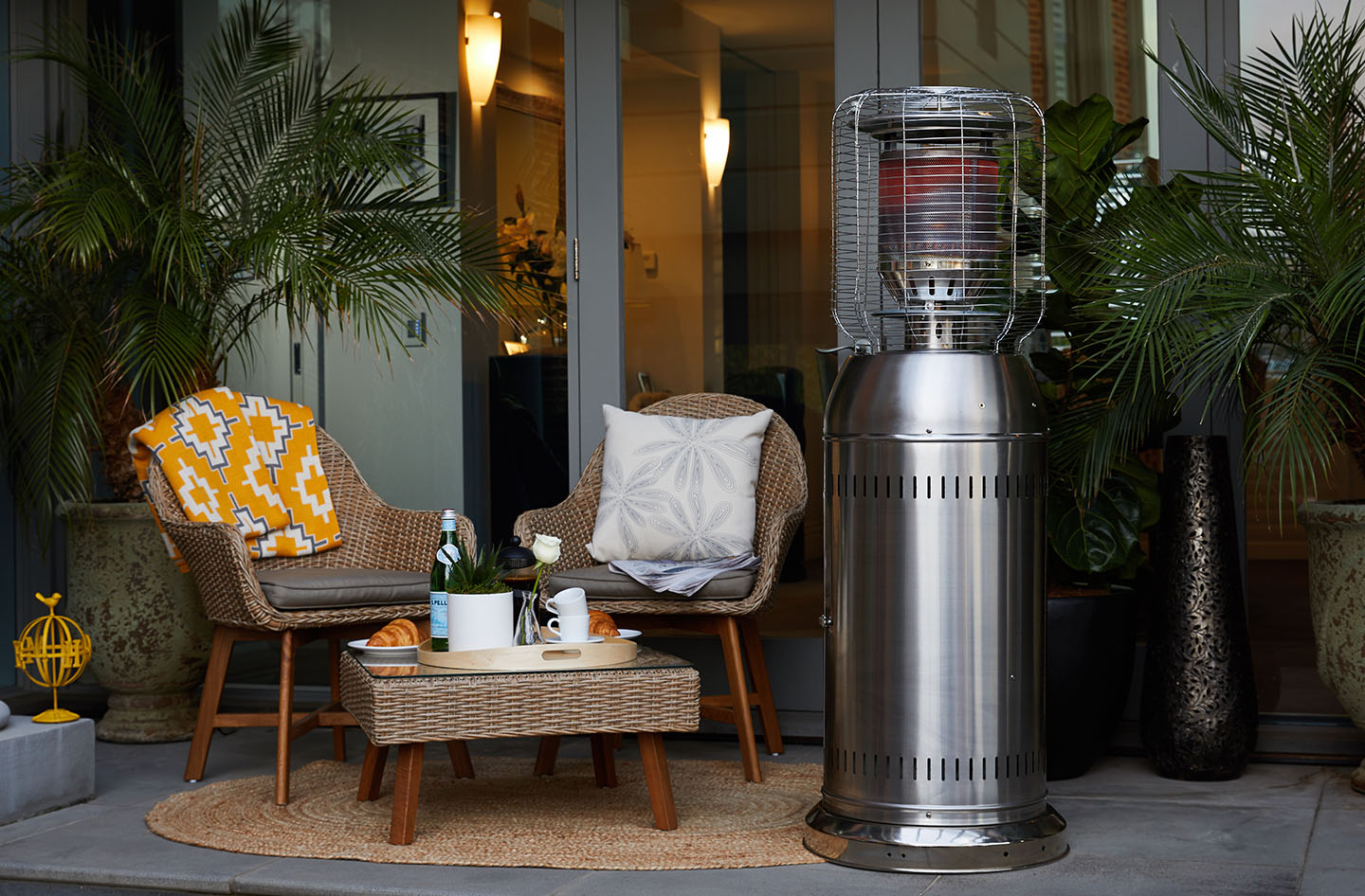 Bunnings Outdoor Heaters Electric Split Burner Patio Heater Fiammetta