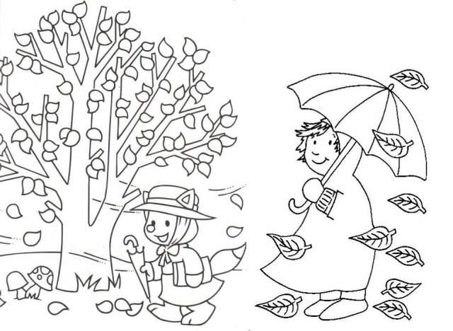 300 Dibujos del otoño para colorear  Fichas de primaria