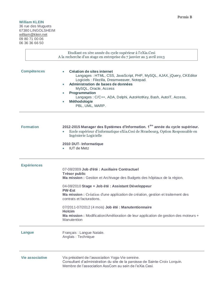 fichier pdf cv william klein pdf par william klein 1