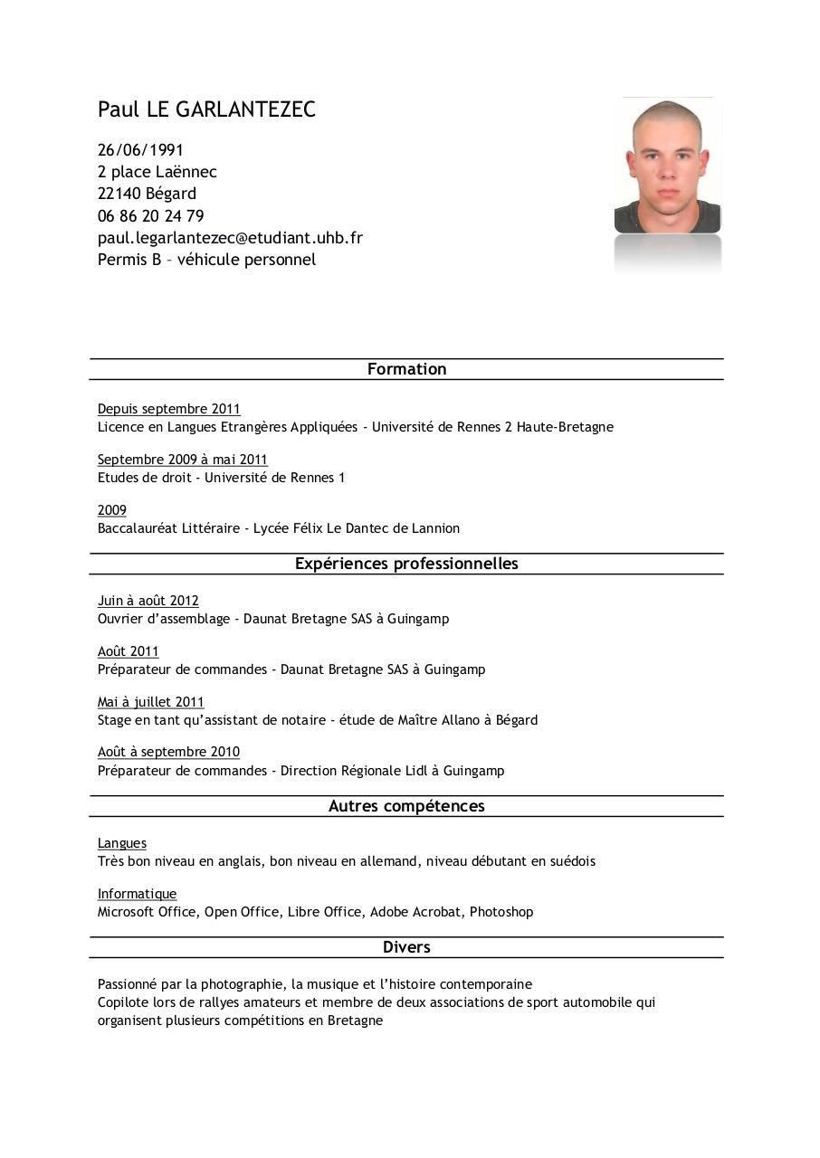 Notaire Office Cv Par Paul - Fichier Pdf