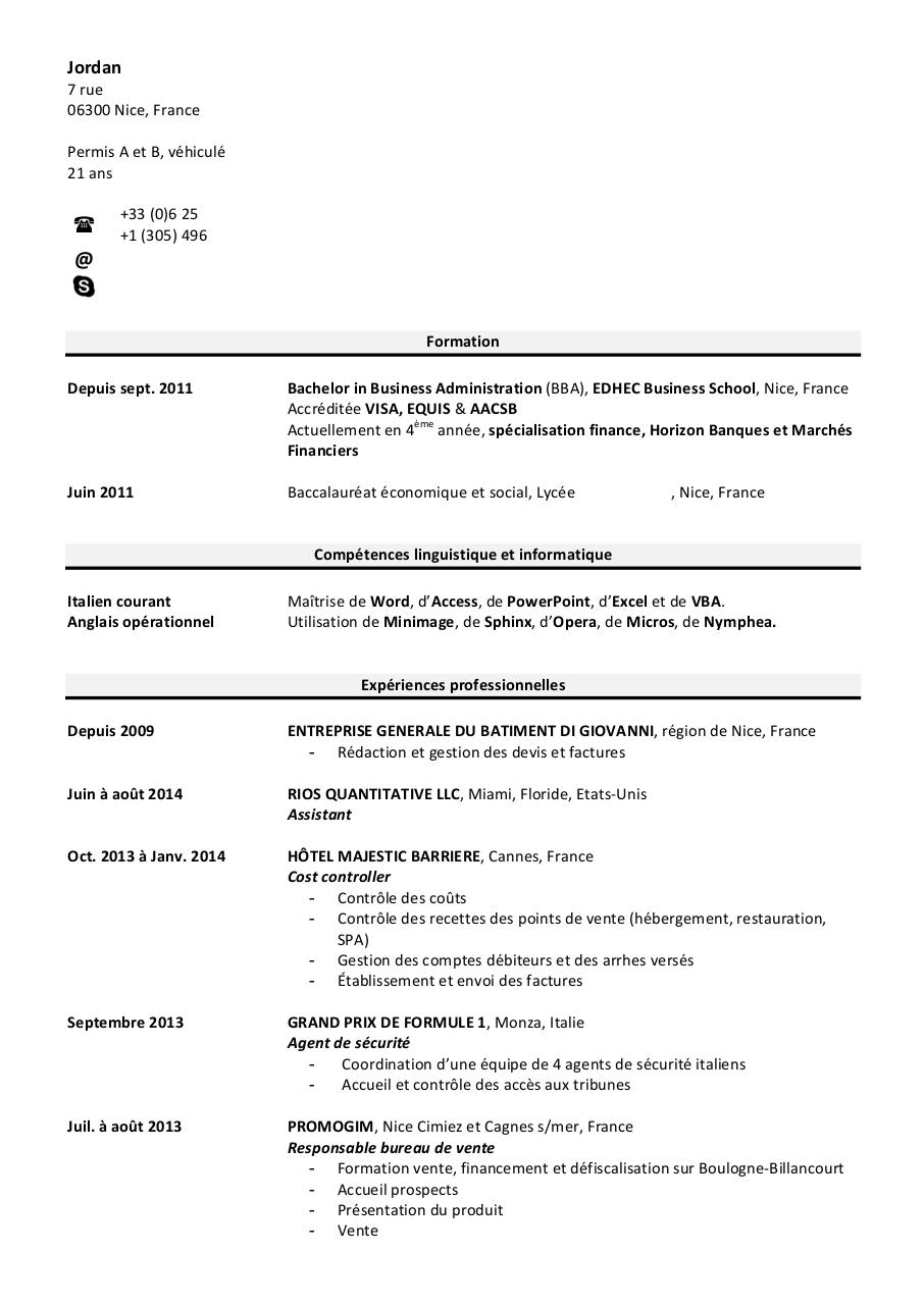 pdf cv vide