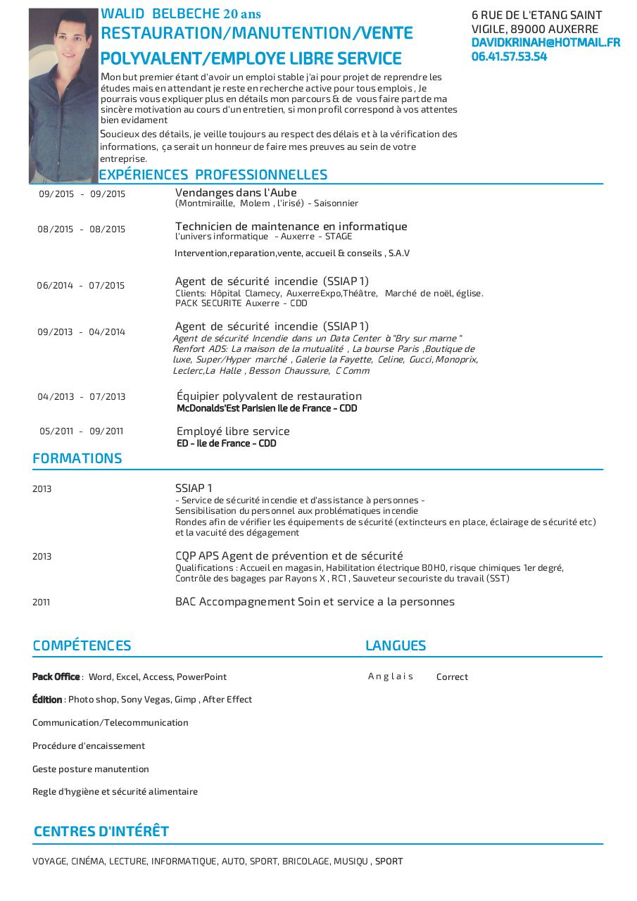 interet communication cv