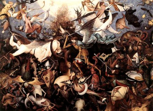 The Fall of the Rebel Angels by Pieter Bruegel the Elder, which is discussed in Submergence