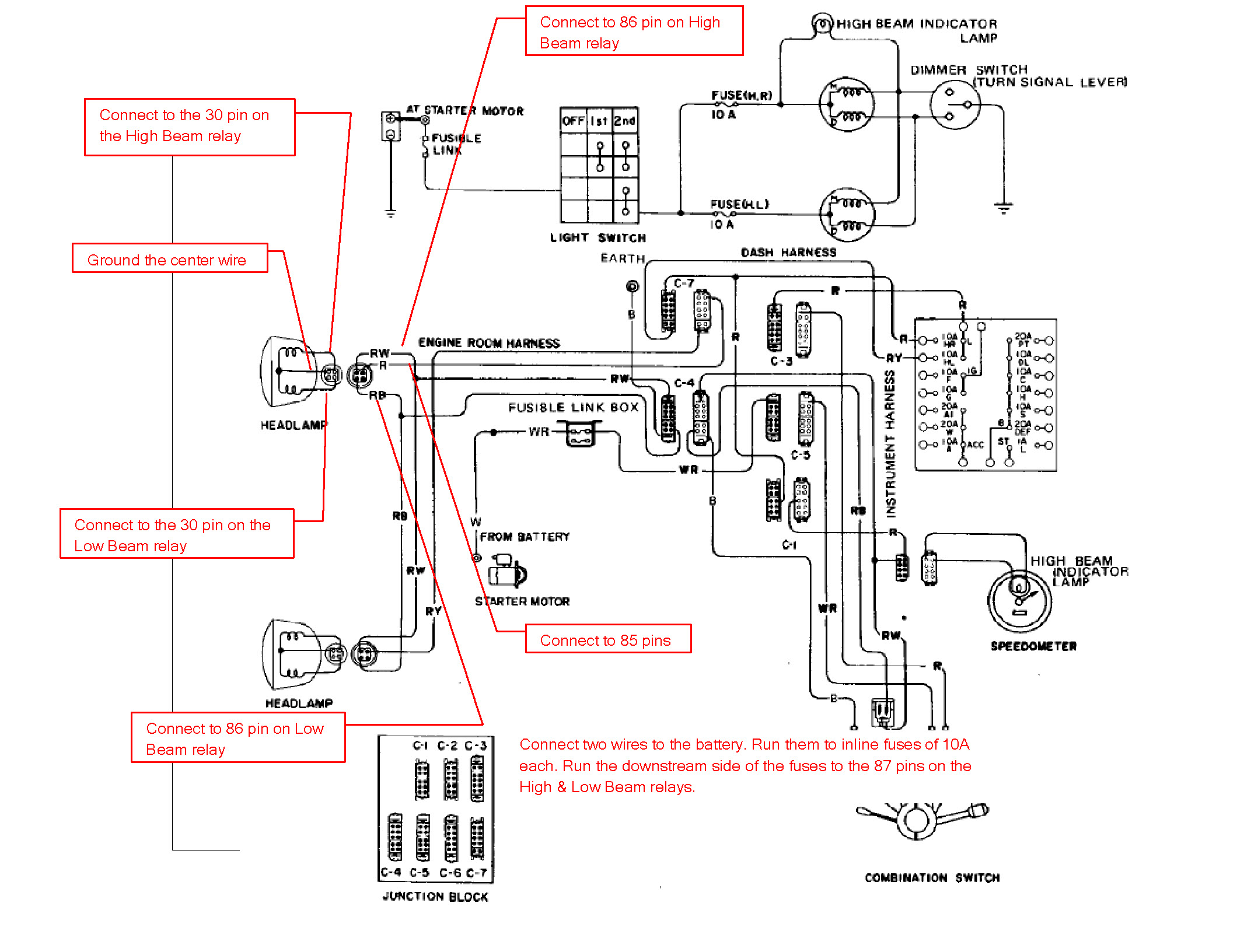 combination switch wiring diagram 280zx