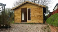 Converting a shed into a home office  cont