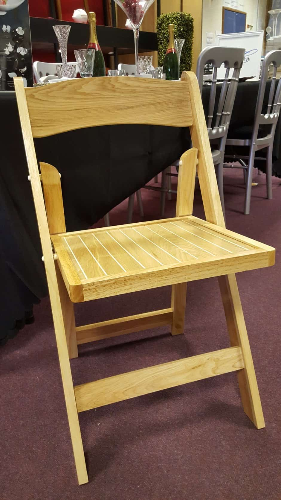 Folding Wooden Chairs Deluxe Folding Wooden Chair