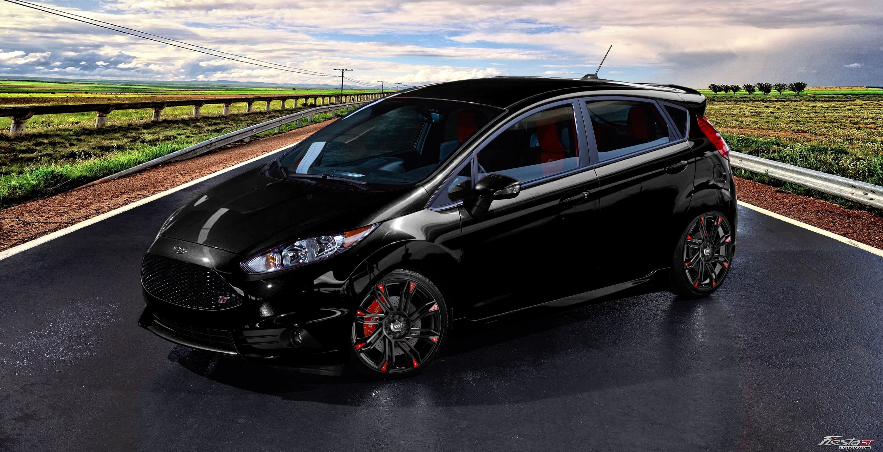 All Black Ford Fiesta Fiesta St On Rendered Wheels Page 3