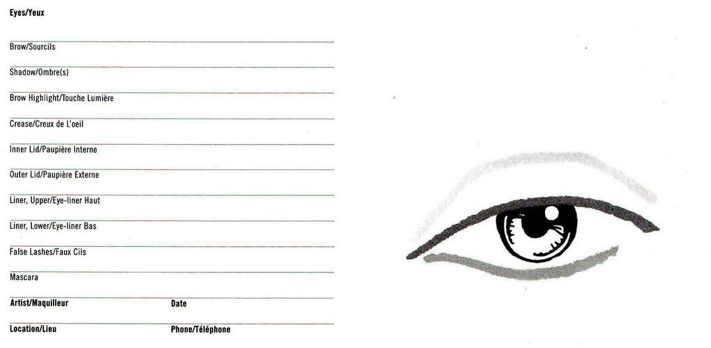 Eye Makeup Chart - Makeup Vidalondon - eye chart template