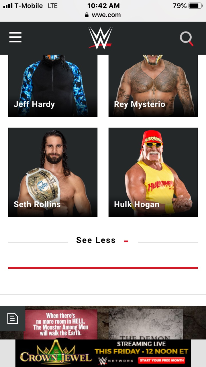 Hulk Hogan Twitter Hulk Hogan Listed As Appearing At Crown Jewel On Wwe S Website