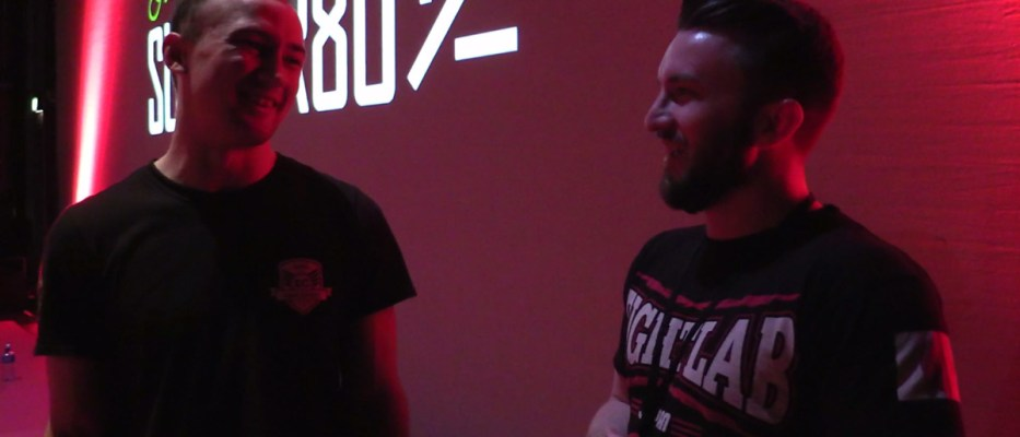 Post fight interview with Sam Mc Nally at SUBOVER80
