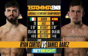 Watch: Ryan Curtis vs Daniel Barez - BAMMA 30