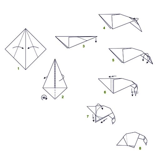 origami goose diagrams