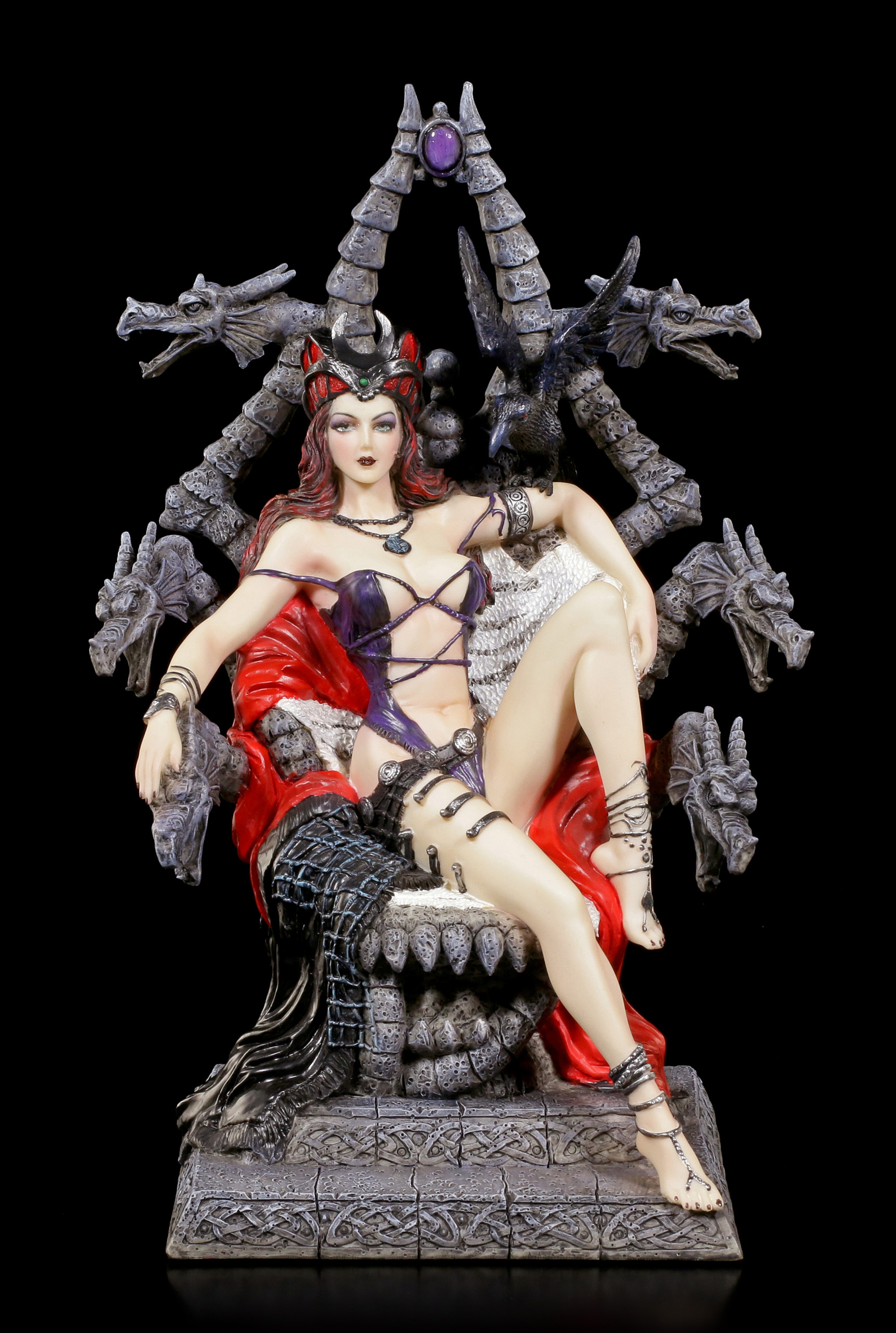 Deko Badezimmer Action Hexen Figur The Witch On The Throne