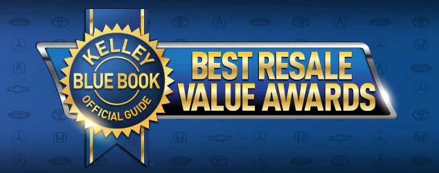 2018 Best Resale Value Awards Kelley Blue Book