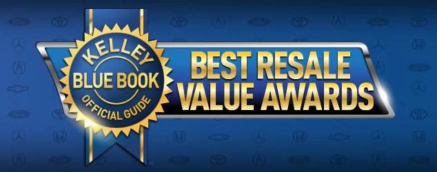 2019 Best Resale Value Awards Kelley Blue Book