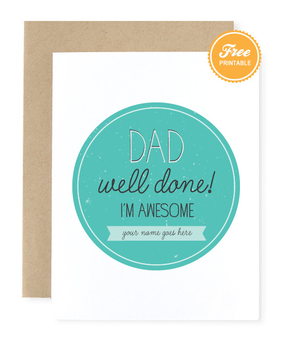 Free Printable Father\u0027s Day Card + Father\u0027s Day Gift Ideas