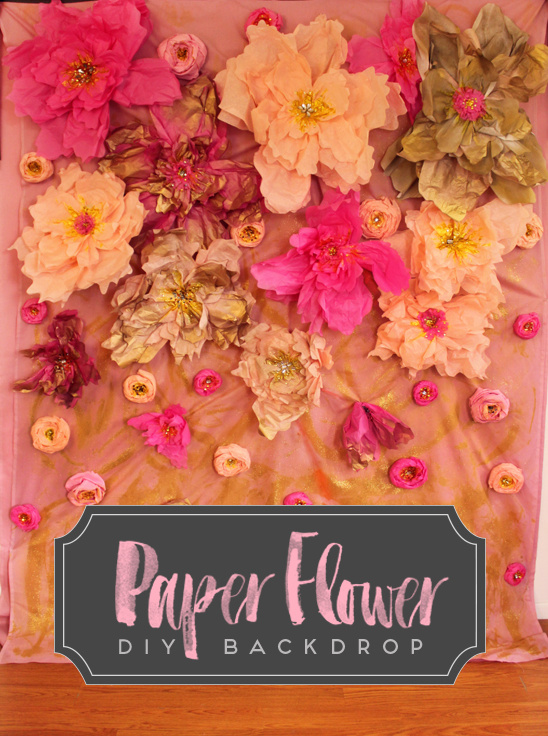 paper flower photo booth backdrop