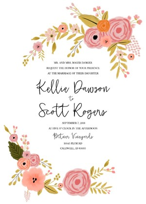 Free Printables - free downloadable wedding invitation templates