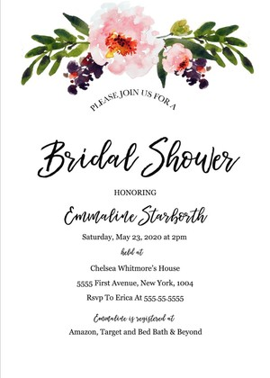 Bridal Shower  Bachelorette Invites