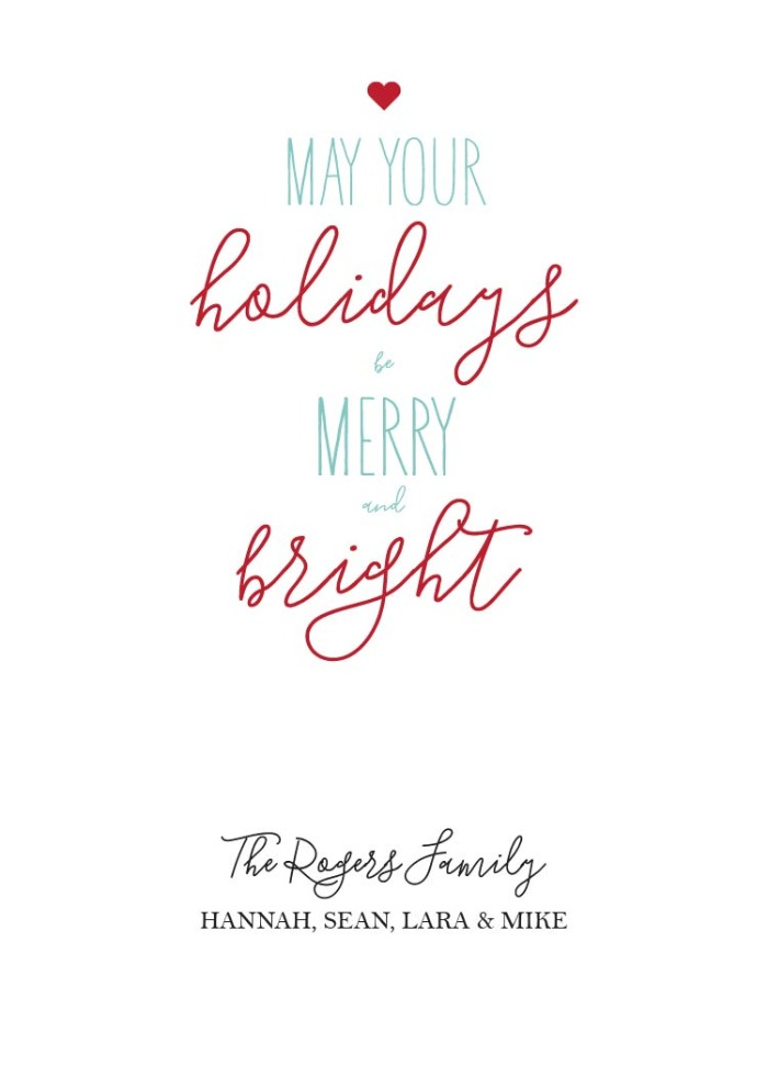 Print - Free Printable Merry  Bright Holiday Card