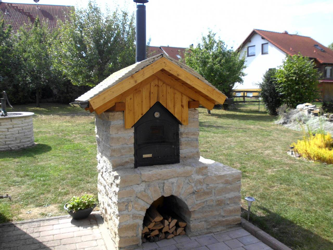 Outdoorküche Weber Xxl : Outdoorküche mit holzbackofen backhaus mit fontana forni holzbackofen