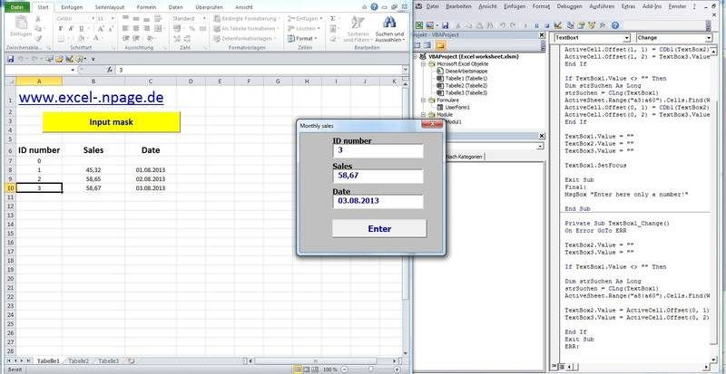 excel vba textbox au format date