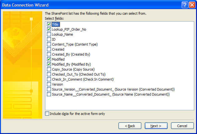 How to lookup the file name column of a SharePoint library from an