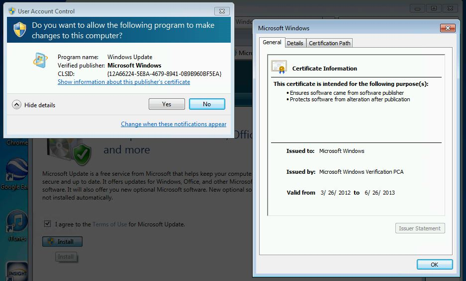 Microsoft Office Online Update Expired Certificate