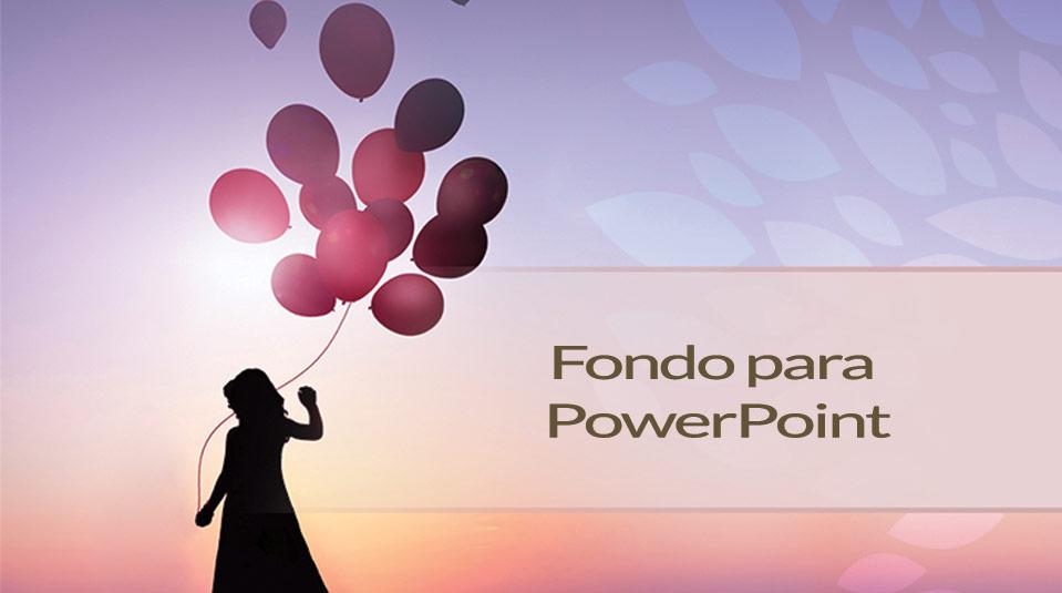 Fondo para PowerPoint Aniversario Ministerio de la Mujer