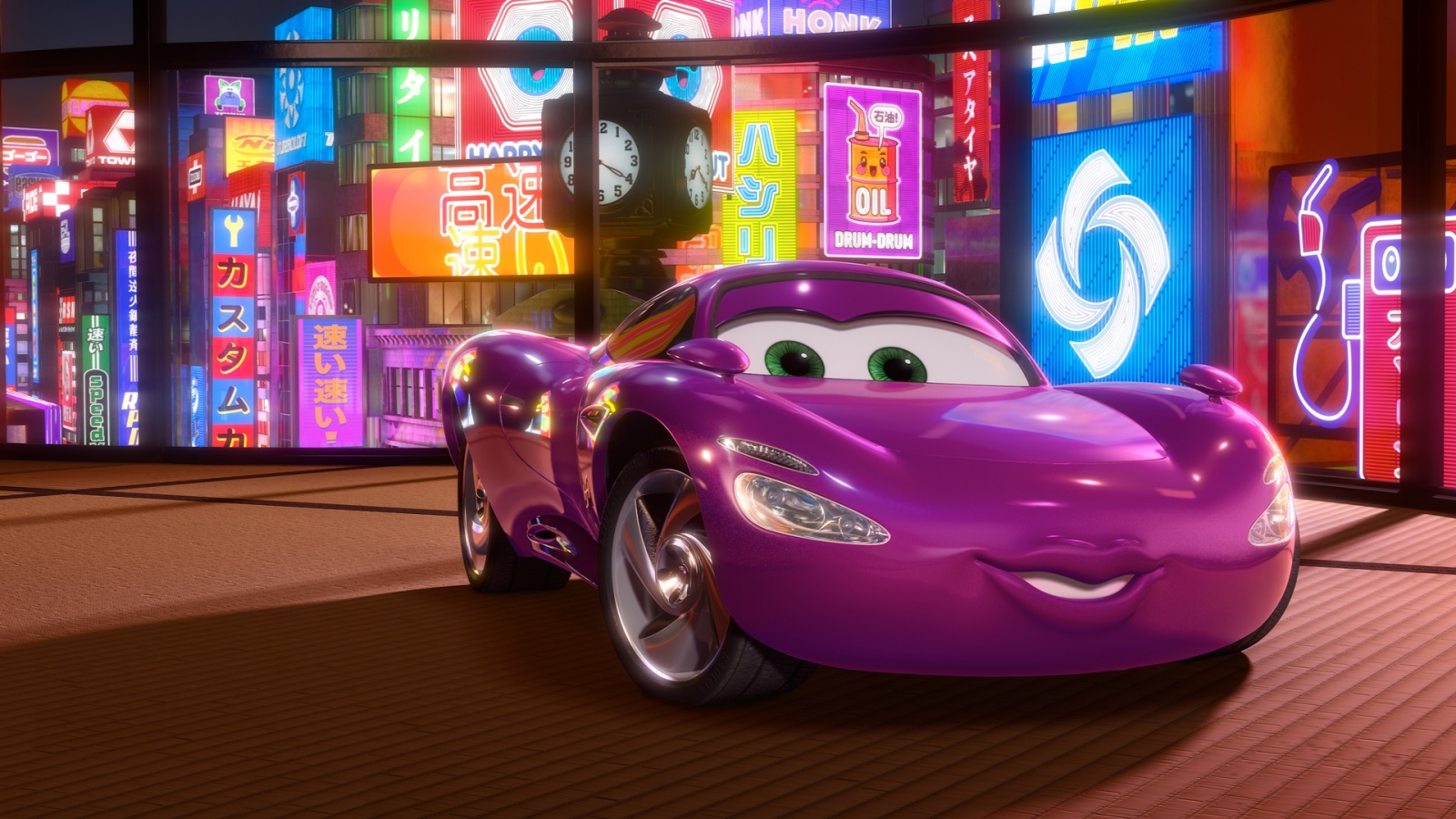 Disney Pixar Cars Wallpapers Free Download Holley Shiftwell In Cars 2 Movie Wallpapers In Jpg Format