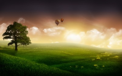 Nature Balloon Ride Wallpapers in jpg format for free download