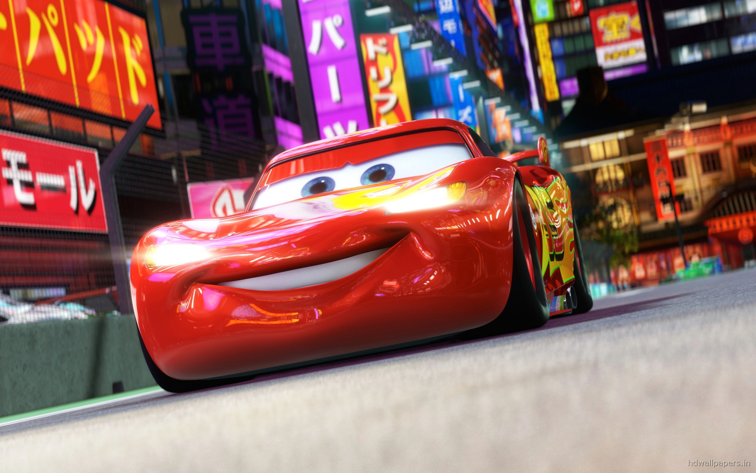 Disney Pixar Cars Wallpapers Free Download Lightning Mcqueen In Cars 2 Wallpapers In Jpg Format For
