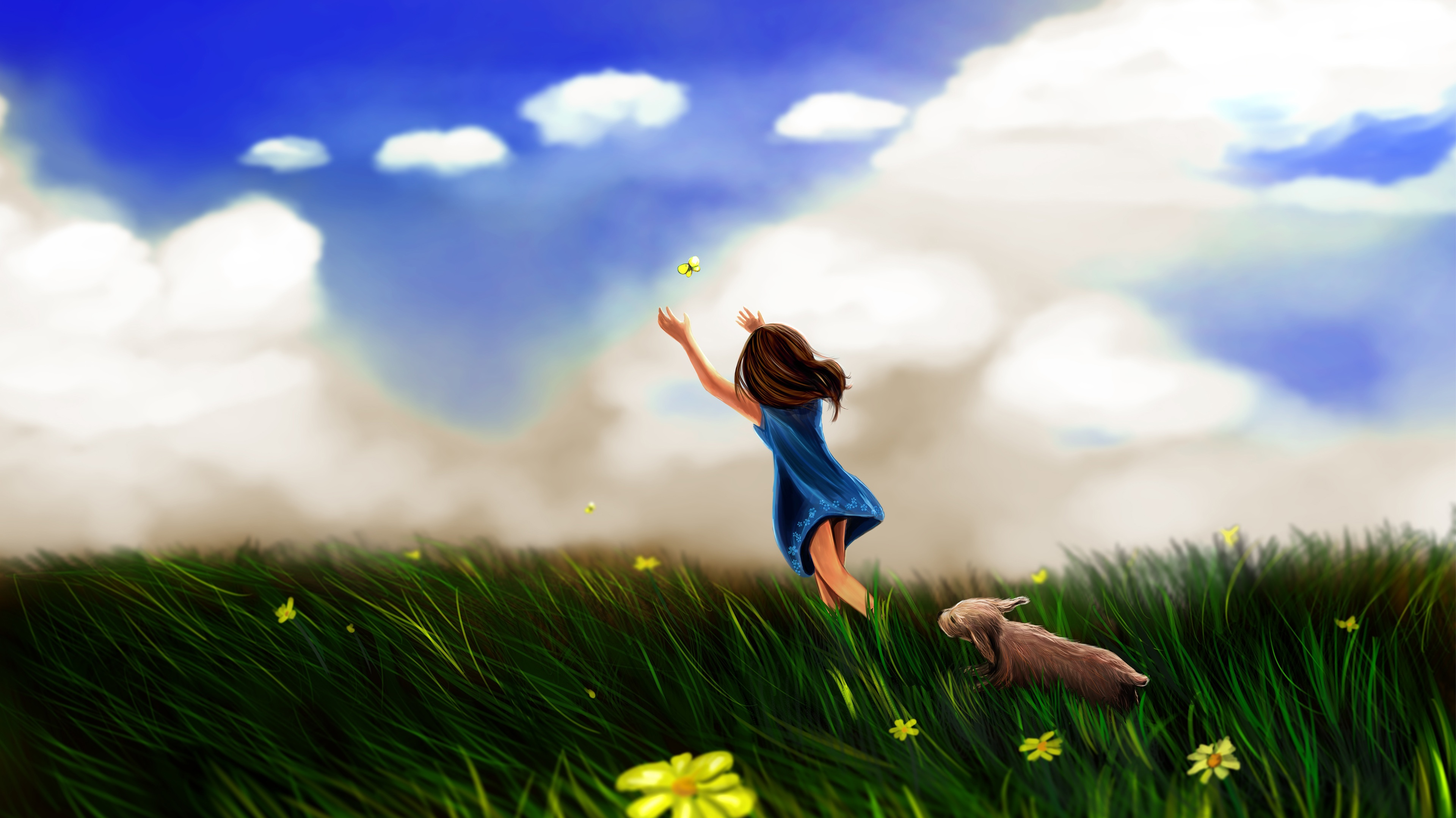 Animated Butterfly Wallpaper Girl Butterfly Play Wallpapers In Jpg Format For Free Download