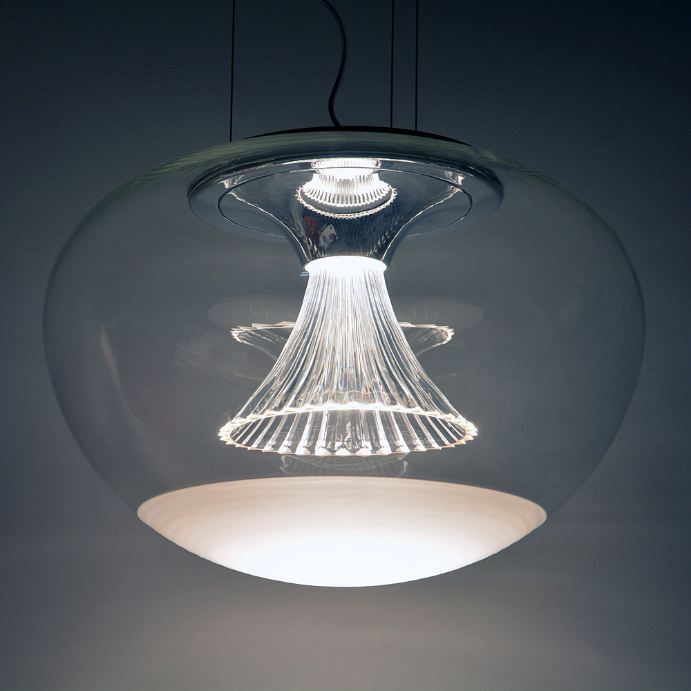 Artemide Suspension Ipno Glass Suspension Inspiration Materials And Technologies