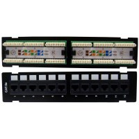 Wall Mount, 12 port Cat5e Patch Panel, 110 Type, 10 inch