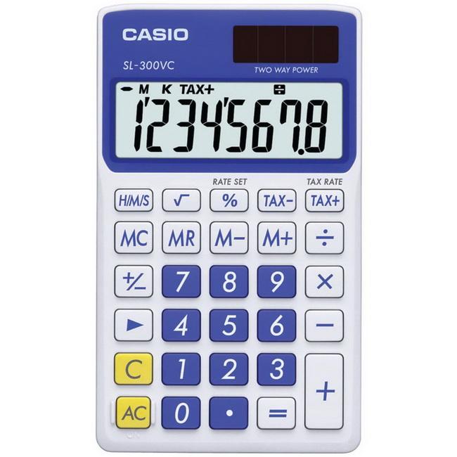 Casio Travel Calculator, Blue, SL-300VC-BE