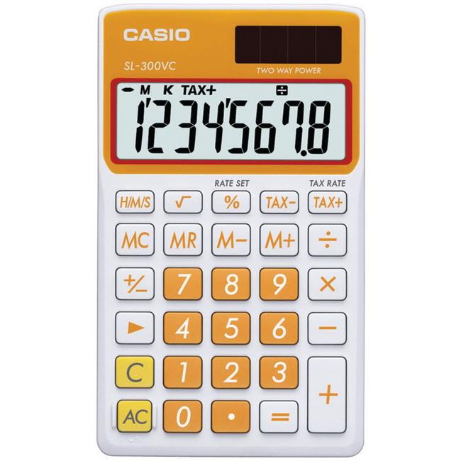 Casio Travel Calculator, Orange, SL-300VC-OE
