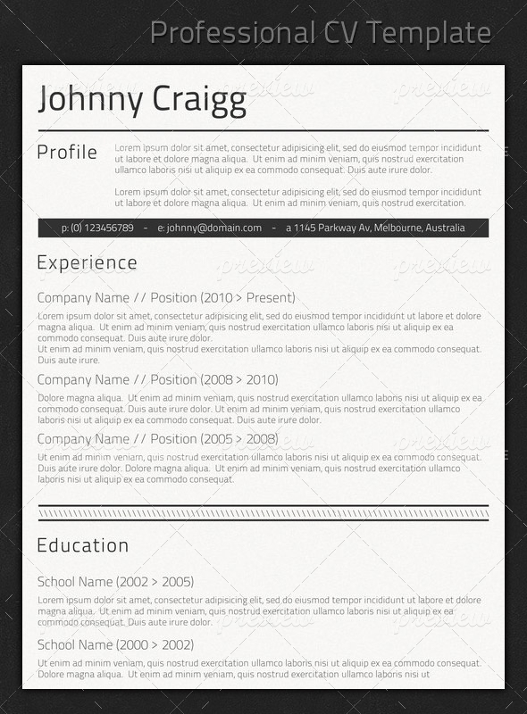 good looking cv template
