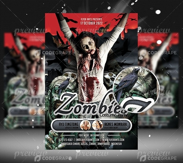 Zombies Flyer Template - Print CodeGrape