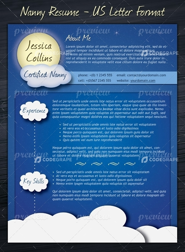 resume template nanny