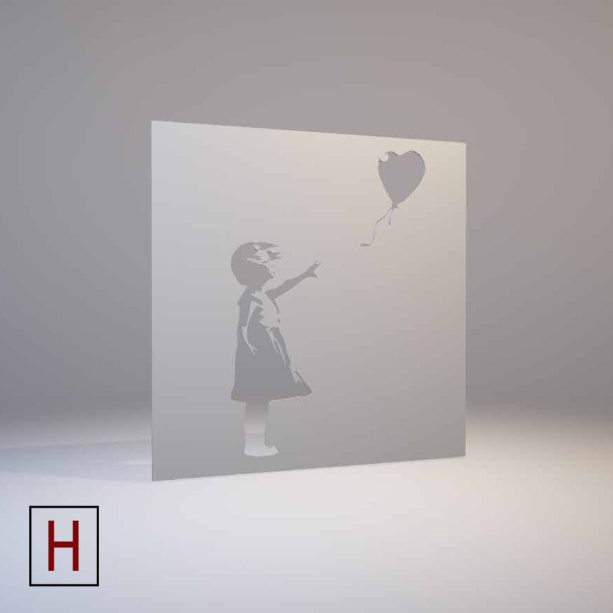 3D print files Banksy - stencil - Girl with a balloon ・ Cults