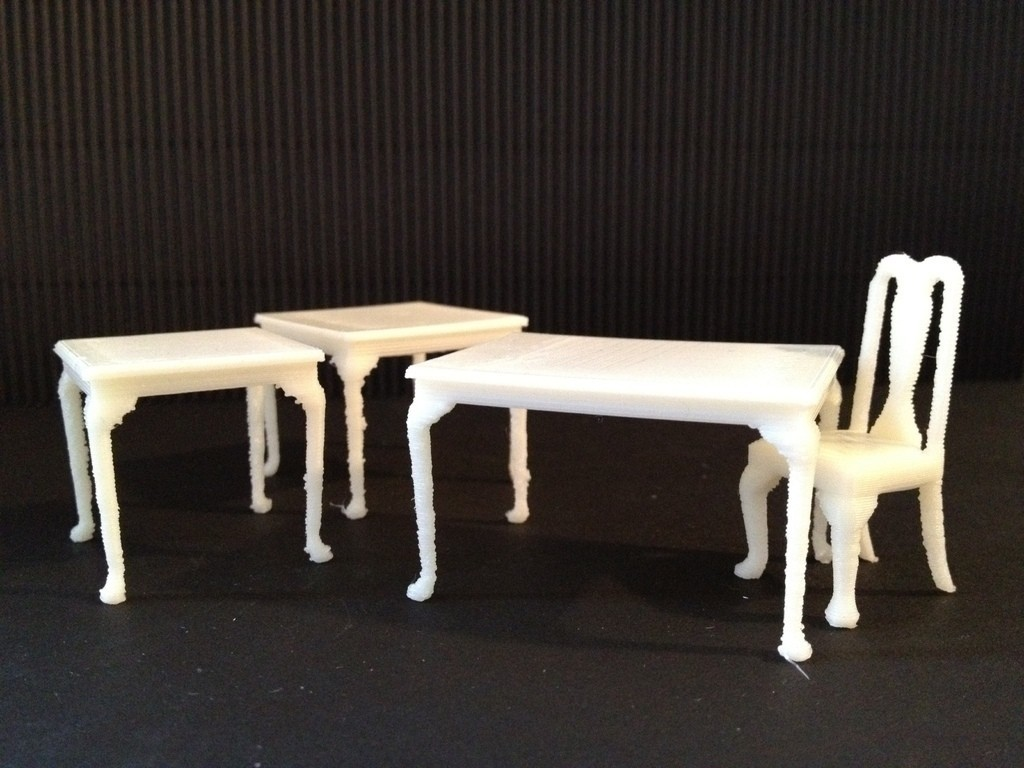 Chaise Design Miniature Miniature Queen Anne Dining Tables