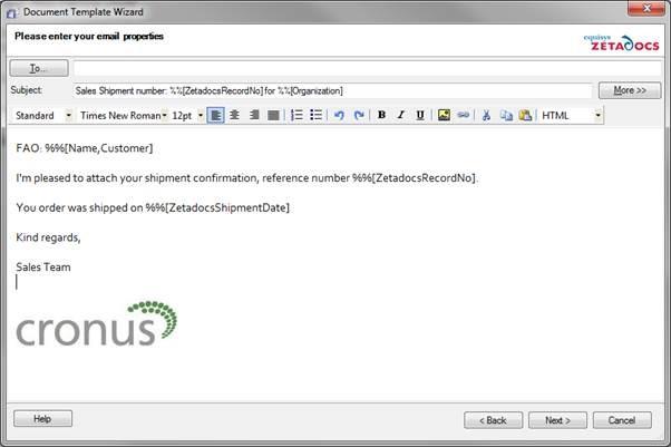 Using configurable metadata with Zetadocs Delivery Essentials