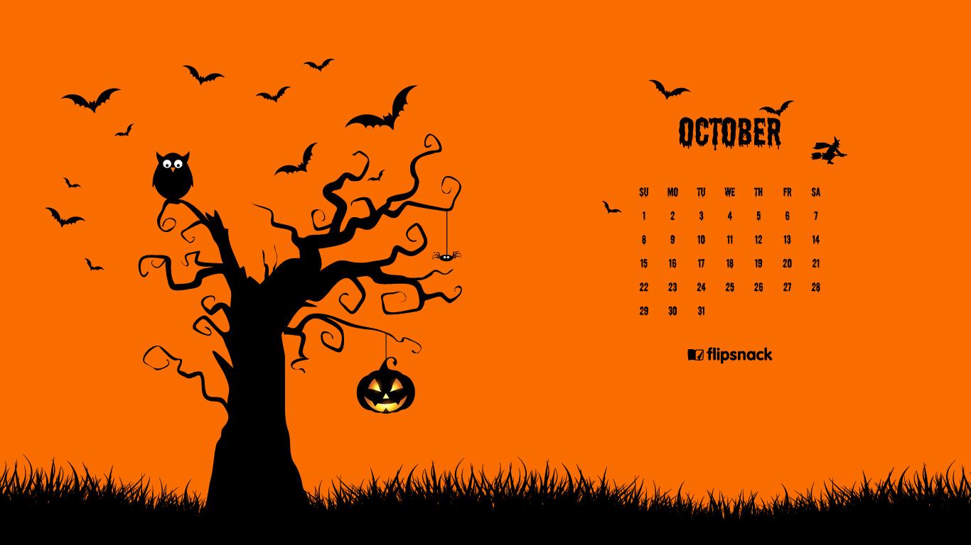 Fall Pumpkin Desktop Wallpaper Free October 2017 Calendar Wallpaper For Desktop Background