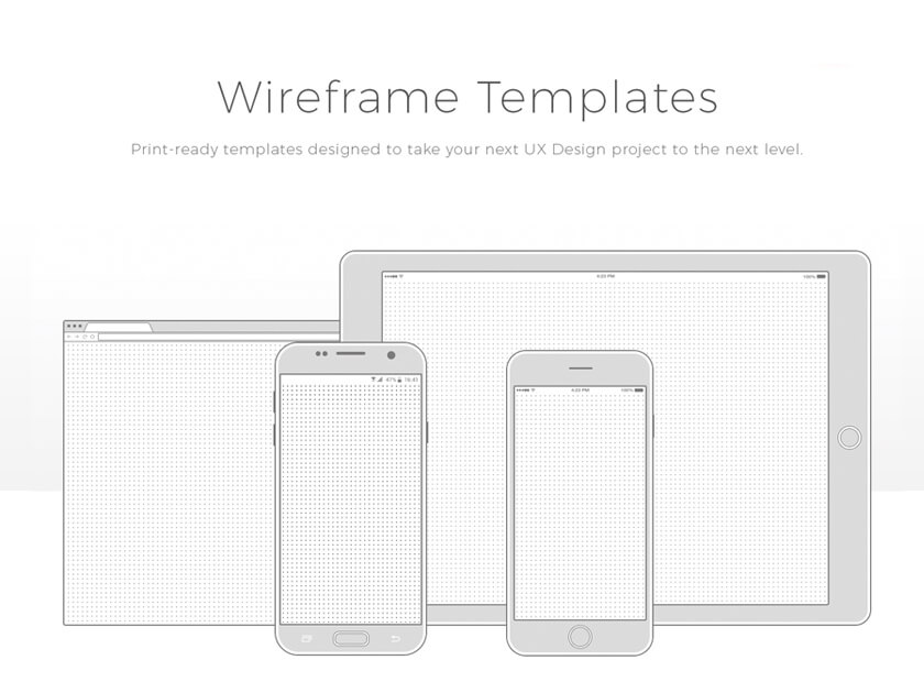 Free wireframe templates collection - Fluxes Freebies - wireframe templates